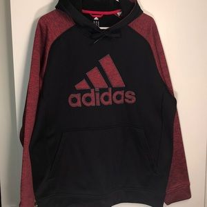 Men's black and red Adidas Hoodie XL